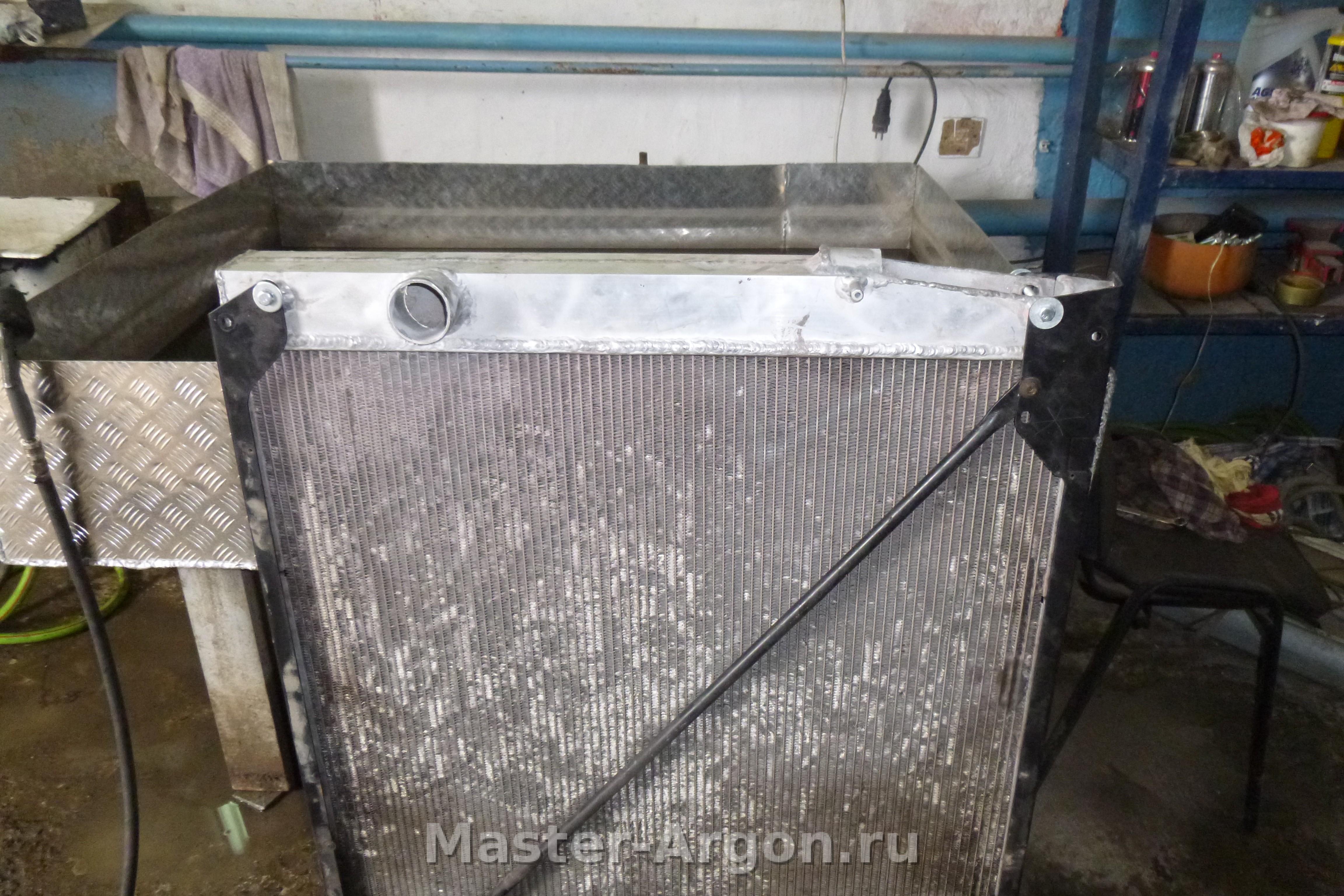 Ремонт алюминиевого радиатора автомобиля 61